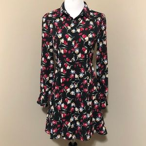 Zara floral chiffon mini dress